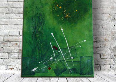 Grüne Abstraktion Leinwandbild Acryl Abstrakt ART00024 (1)