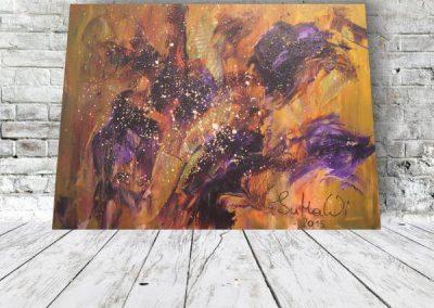 Herbstblüten - Acrylbild kaufen abstrakt online (1)