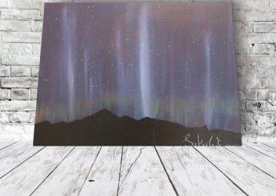 Acrylbild abstrakt - landschaft Sternenhimmel leinwandbild