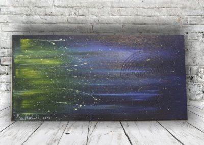 Nachthimmel mit Gelben Schimmer  ART00058 80x40 Preis:320 Euro