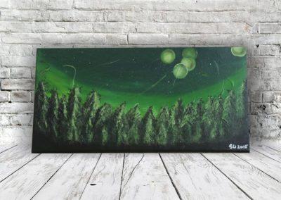 Landschaft mystisch acrylbild abstrakt
