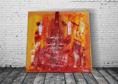 Stadt in Flammen Acrylbild auf Leinwand ART00034 (1)