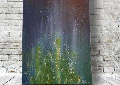 Sterne am Himmel ART00043 80x60 Preis: 590 Euro Acrylbild Abstrakt