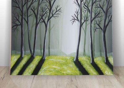 Waldlichtung  Acrylbild Landschaft ART00039 (1)